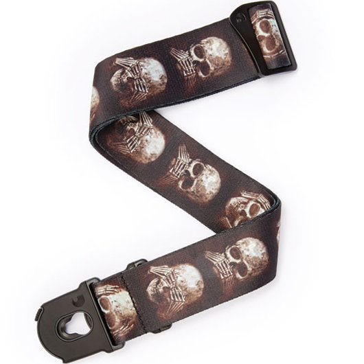 View larger image of Planet Waves Alchemy Planet Lock Guitar Strap - Muted Skulls