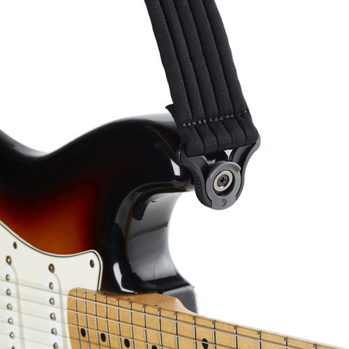 View larger image of Planet Waves Auto Lock Padded Guitar Strap - Black Stripes