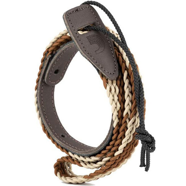 View larger image of Planet Waves Braided Mandolin Strap - Brown/Cream
