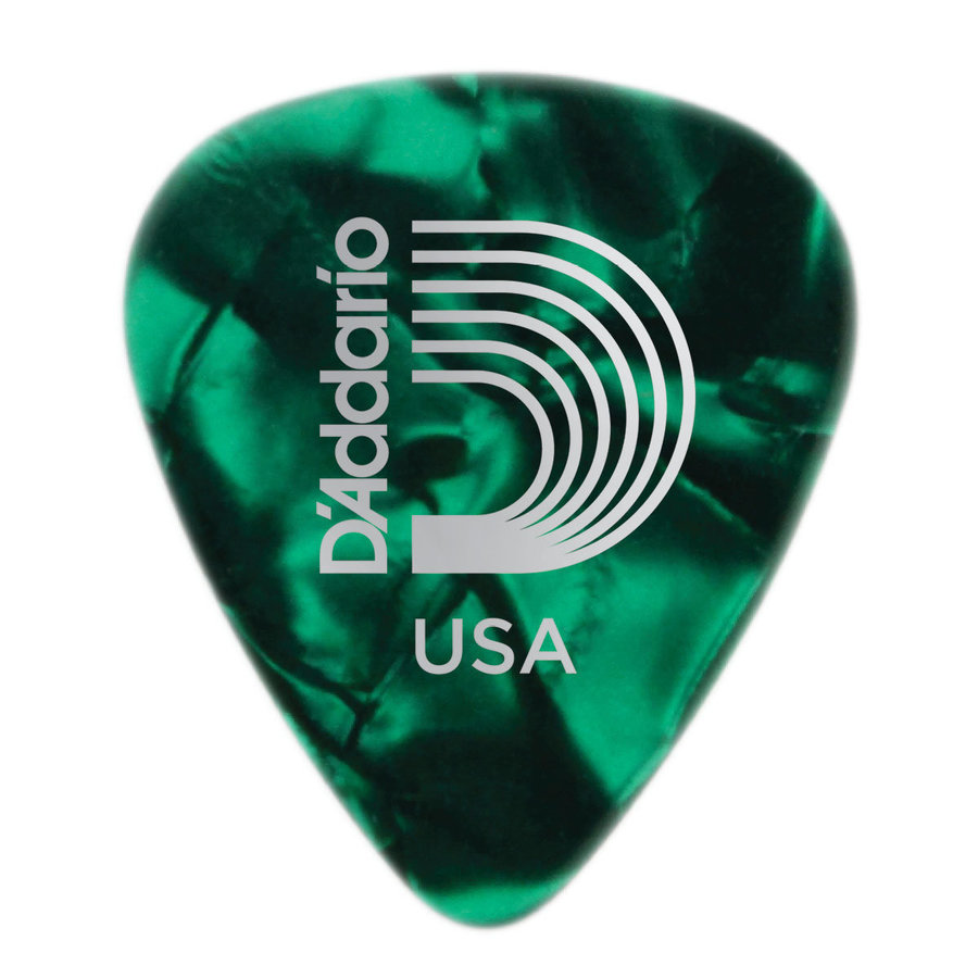 View larger image of Planet Waves Celluloid Green Pearl Picks - Medium - 100-Pack
