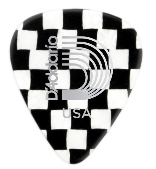 View larger image of Planet Waves Checkerboard Celluloid Guitar Picks - Extra Heavy, 25 Pack