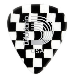 Planet Waves Checkerboard Celluloid Guitar Picks - Extra Heavy, 25 Pack