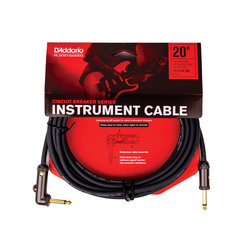 Planet Waves Circuit Breaker Instrument Cable with Latching Cut-Off Switch - Right Angle, 20'