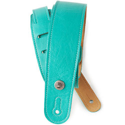 Planet Waves Garment Leather Guitar Strap - Teal