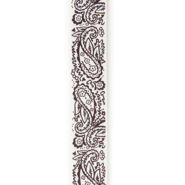 View larger image of Planet Waves P20W1418 Paisley Guitar Strap - White