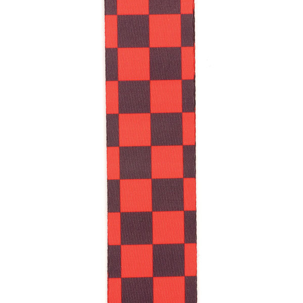 View larger image of Planet Waves P20W1421 Large Checkerboard Guitar Strap - Black / Red