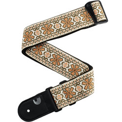 Planet Waves Peace Love Guitar Strap - Pink/Brown