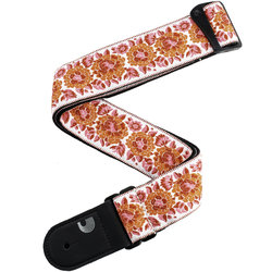 Planet Waves Peace Love Guitar Strap - White/Pink