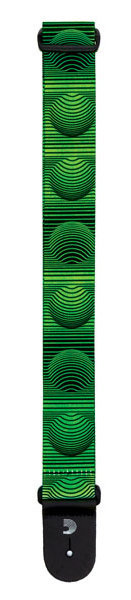 View larger image of Planet Waves Polyester Guitar Strap - Optical Art, Green Orbs