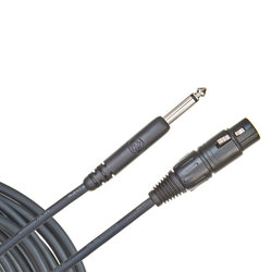 Planet Waves PW-CGMIC-25 Classic Series Unbalanced Microphone Cable - XLR-to-1/4-inch - 25'