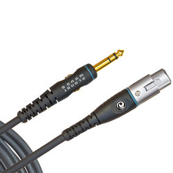 Planet Waves PW-GM-10 Custom Series Microphone Cable - XLR Female to 1/4 - 10'
