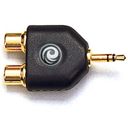 Planet Waves PW-P047C 1/8 Inch Male Stereo to Dual RCA Female Adapter