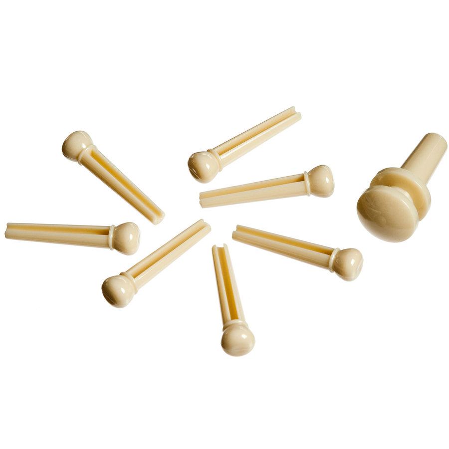 View larger image of Planet Waves PWPS11 Molded Bridge Pins with End Pin - Set of 7 - Ivory