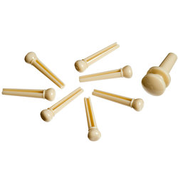Planet Waves PWPS11 Molded Bridge Pins with End Pin - Set of 7 - Ivory