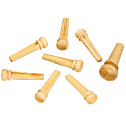 Planet Waves PWPS6 Boxwood Bridge Pins with End Pin Set