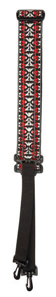 View larger image of Planet Waves Woven Banjo Strap - Hootenanny, Red/Silver