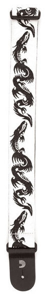 View larger image of Planet Waves Woven Guitar Strap - Dragon Tattoo Art