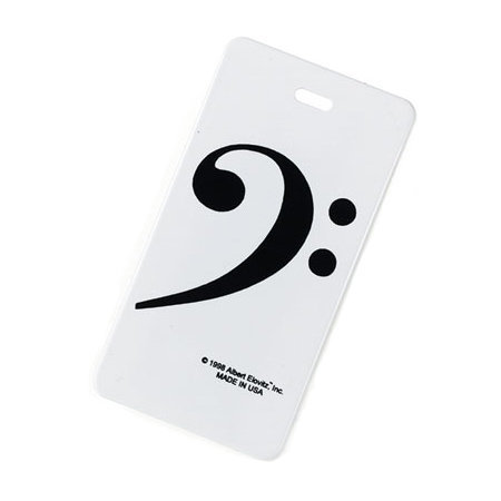 View larger image of Plastic ID Tag - Bass Clef