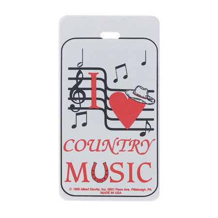 View larger image of Plastic ID Tag - Country Music