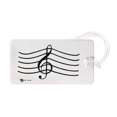 View larger image of Plastic ID Tag - G-Clef