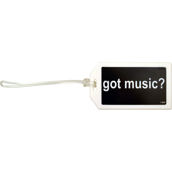 View larger image of Plastic ID Tag - Got Music?