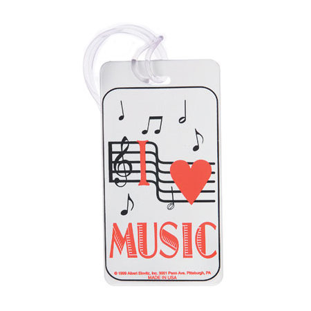 View larger image of Plastic ID Tag - I Love Music