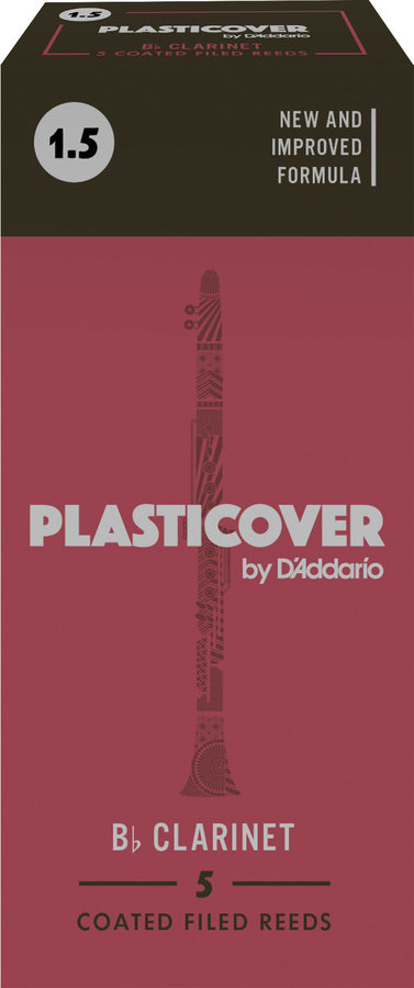 View larger image of Plasticover Bb Clarinet Reeds - #1.5, 5 Box