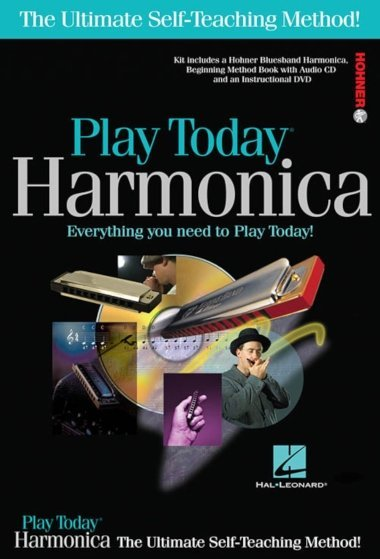 View larger image of Play Harmonica Today! Complete Kit (Harmonica/Book/CD/DVD)