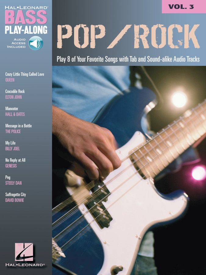 View larger image of Pop/Rock - Bass Play/Along Volume 3 w/Online Audio