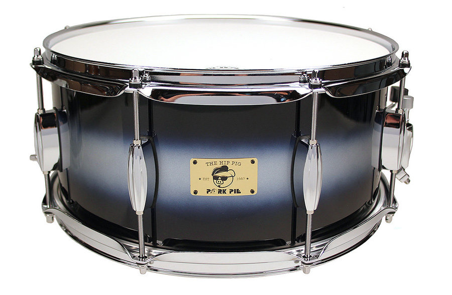 View larger image of Pork Pie 6.5?x14? Hip Pig Blue/Silver Duco Snare