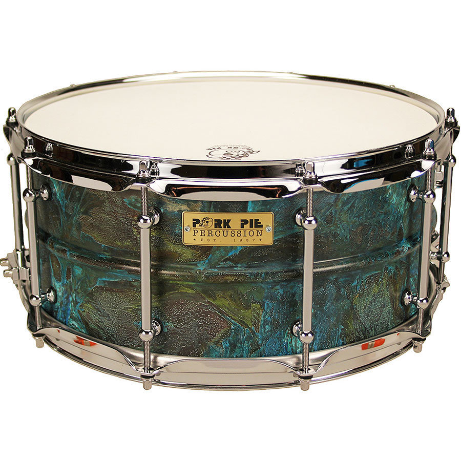 View larger image of Pork Pie Patina Brass Snare Drum - 6-1/2x14
