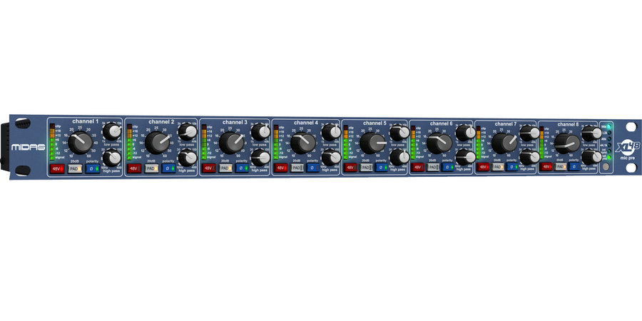 View larger image of  Midas XL48 8-Channel Microphone Preamp