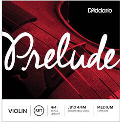 D'Addario J810 Prelude Violin String Set - 4/4, Medium