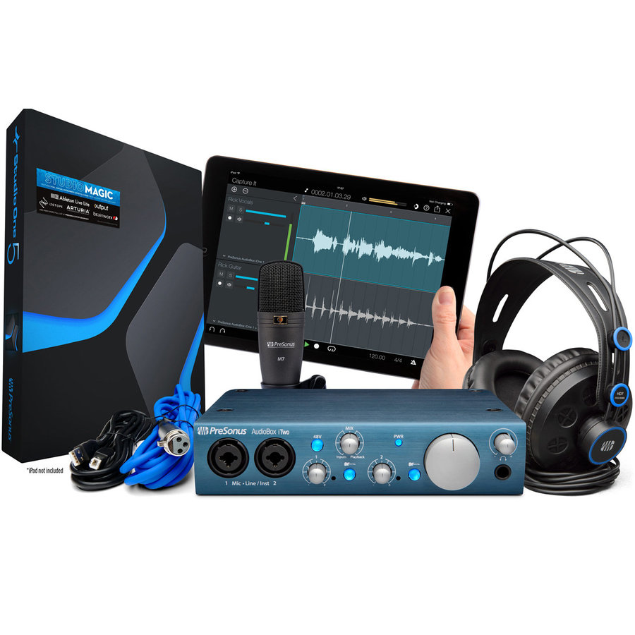View larger image of PreSonus AudioBox iTwo Studio Complete Mobile Hardware/Software Recording Kit