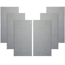 Primacoustic Broadway Broadband Absorbers - 1, Beveled, Grey, Set of 6