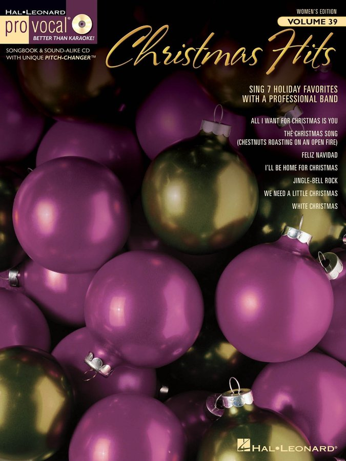 View larger image of Pro Vocal Women's Edition Volume 39 - Christmas Hits (Book & CD)