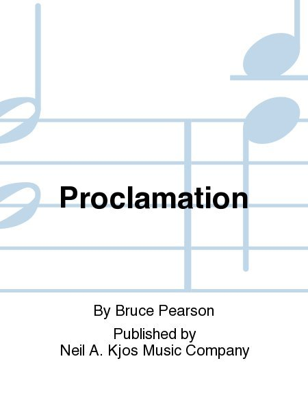 View larger image of Proclamation - Score & Parts, Grade 2.5
