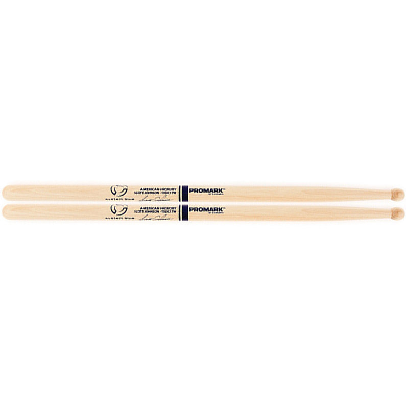 View larger image of ProMark TXDC17W American Hickory Scott Johnson Marching Drumsticks