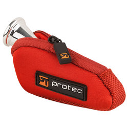Protec French Horn Mouthpiece Neoprene Pouch - Red