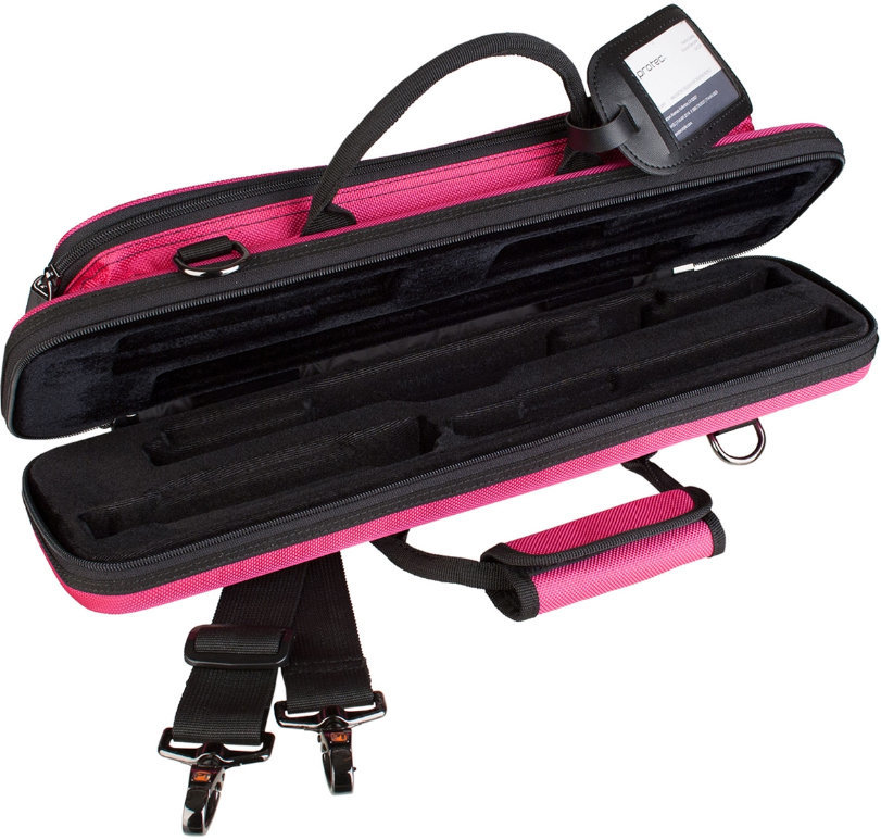 View larger image of Protec Slimline PRO PAC Flute Case - Hot Pink
