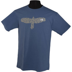 PRS Bird is Word T-Shirt - Slate Blue, Small