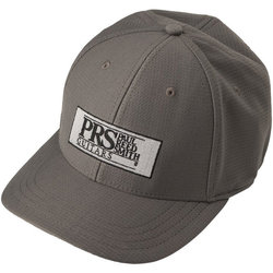 PRS Block Logo Fitted Baseball Hat - Gray, Large / XL