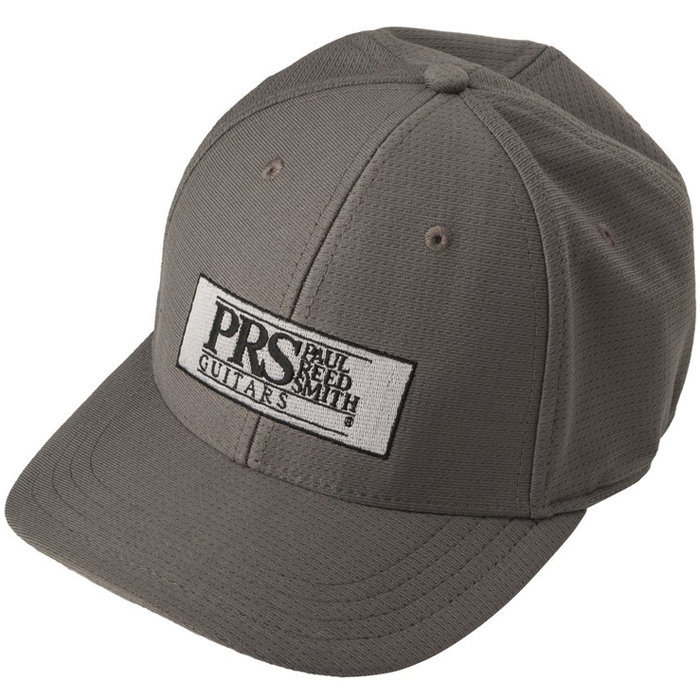 View larger image of PRS Block Logo Fitted Baseball Hat - Gray, Small / Medium