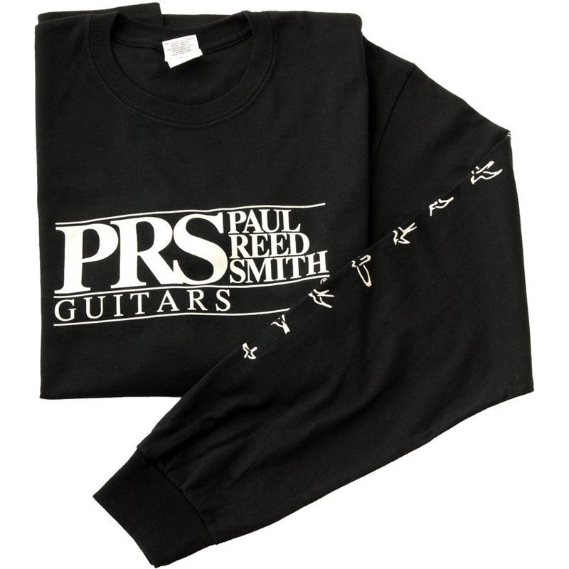 View larger image of PRS Block Logo with Birds Long Sleeve Shirt - Black, Small