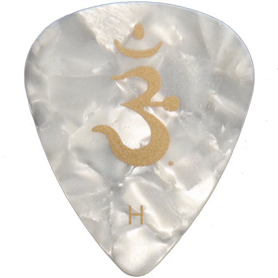 View larger image of PRS Celluloid Guitar Picks - Heavy, White Pearloid, 12 Pack