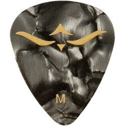 PRS Celluloid Guitar Picks - Medium, Black Pearloid, 12 Pack