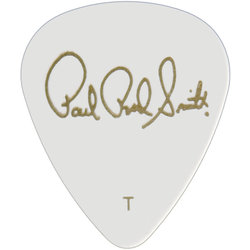 PRS Celluloid Guitar Picks - Thin, Solid White, 12 Pack