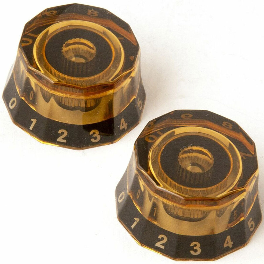 View larger image of PRS Lampshade Knobs - Amber/Black, 2 Pack