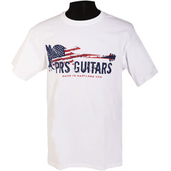 PRS Patriotic Print T-Shirt - White, XL