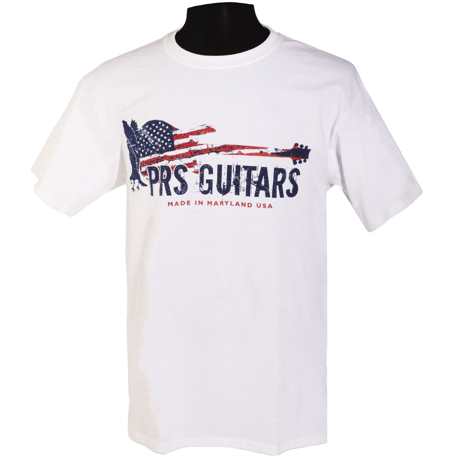 View larger image of PRS Patriotic Print T-Shirt - White, XXL